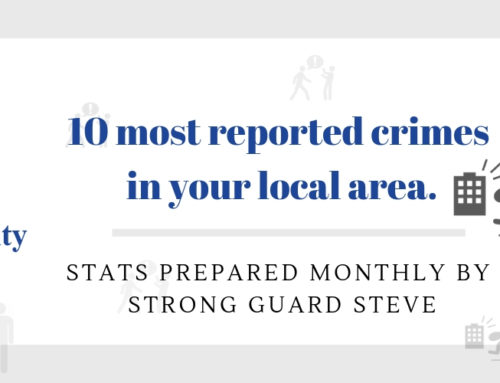 10 MOST REPORTED CRIMES IN WIDNES – OCTOBER 2018