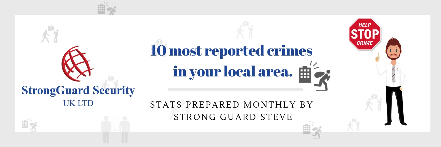 10 MOST REPORTED CRIMES IN WARRINGTON - AUGUST 2018