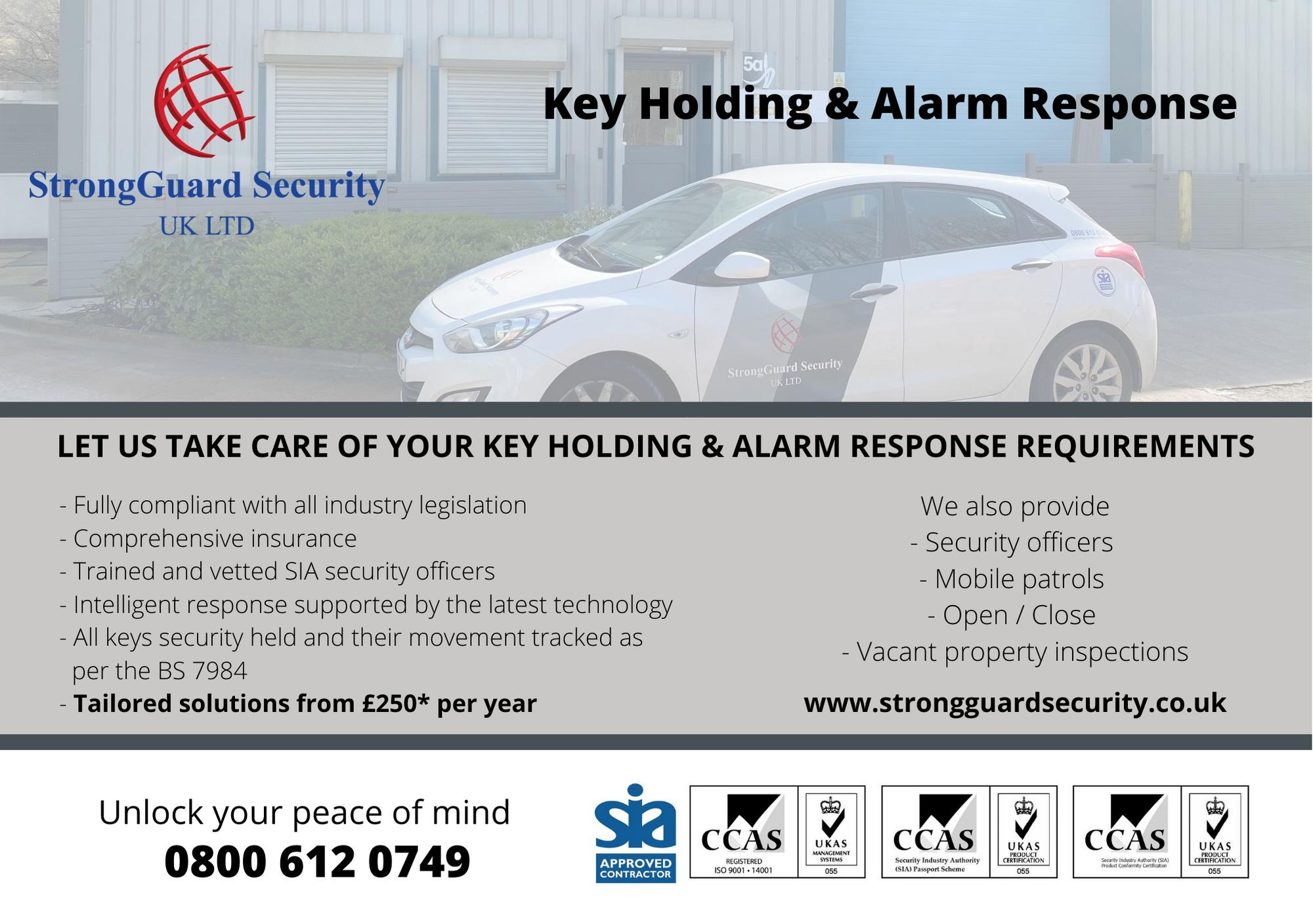 Key Holding Plymouth - Alarm Response Plymouth - Flyer