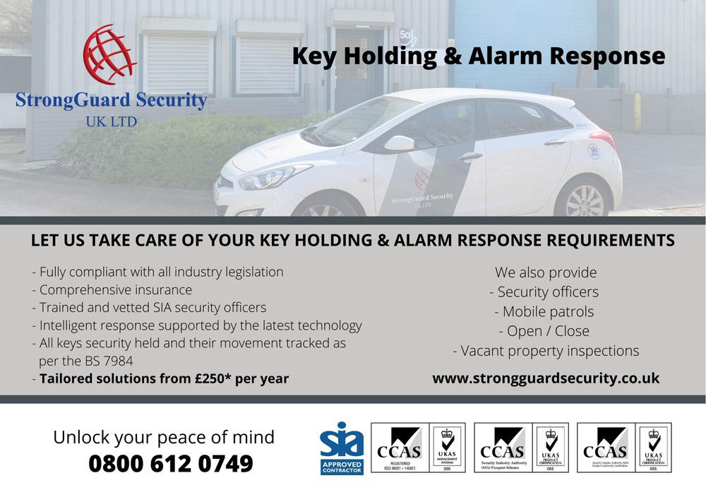 Key Holding Wakefield - Alarm Response Wakefield - Flyer